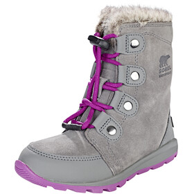 Sorel Kids Whitney Suede Boots Quarry/Raspberry